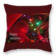 Ornaments-2107-happyholidays Throw Pillow
