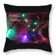 Ornaments-2130-happyholidays Throw Pillow