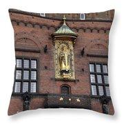 Ornate Building Artwork In Copenhagen Throw Pillow