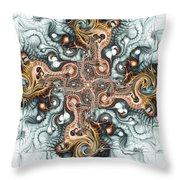 Ornate Cross Throw Pillow by Anastasiya Malakhova