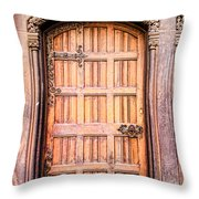 Ornate Door Throw Pillow