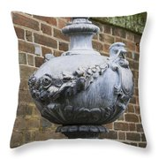 Ornate Garden Urn Throw Pillow