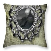 Ornate Metal Mirror Reflecting Church Throw Pillow