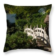 Ornate White Stone Bridge  Throw Pillow