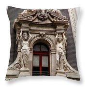 Ornate Window Of City Hall Philadelphia Throw Pillow