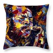 Ornette Coleman Jazz Faces Series Throw Pillow