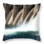 Oroville Dam Unleashed Throw Pillow