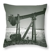 Orphans Of The Texas Oil Fields Throw Pillow by Christine Till
