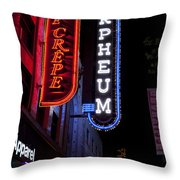 Orpheum And Cafe Crepe Throw Pillow