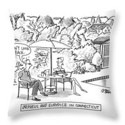 Orpheus And Eurydice In Connecticut Throw Pillow