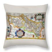 Ortelius Map Of Portugal Porvgalliae Geographicus Portugalliae Ortelius 1587 Throw Pillow