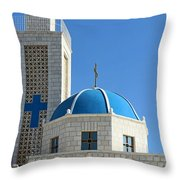 Orthodox Church At Taybeh Throw Pillow