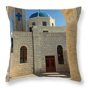 Orthodox Church Entrance Throw Pillow