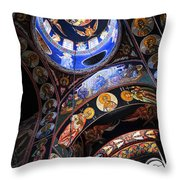 Orthodox Church Interior Throw Pillow