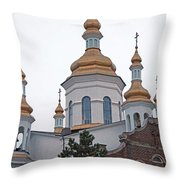 Orthodox Crosses Throw Pillow