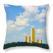 Oru River Skyline II Throw Pillow
