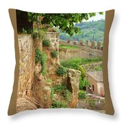 Orvieto Battlement Throw Pillow
