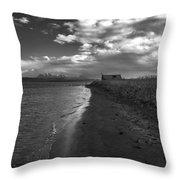 Osar Beach Iceland Throw Pillow