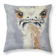 Oscar - An Ostrich Throw Pillow