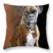 Oscar Throw Pillow by Artist Karen Barton