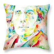 Oscar Wilde Watercolor Portrait.1 Throw Pillow