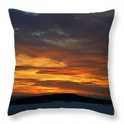 Oslo Fjord At Sunset Throw Pillow