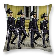 Oslo Royal Palace Guards Throw Pillow