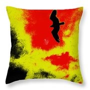 Osprey In The Sky Throw Pillow