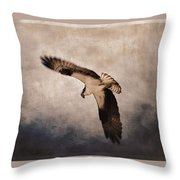 Osprey Over The Columbia River Throw Pillow