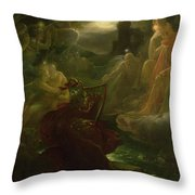 Ossian Conjuring Up The Spirits  Throw Pillow