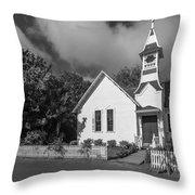 Oysterville Church Throw Pillow
