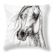 Ostragon Polish Arabian Horse 3 Throw Pillow