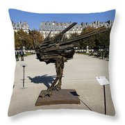 Ostrich Art At The Jardin Des Tuileries In Paris France Throw Pillow
