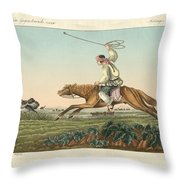 Ostrich Hunting Throw Pillow