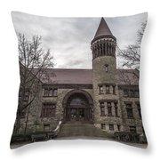 Osu Orton Hall  Throw Pillow