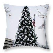 Osu Tree Throw Pillow