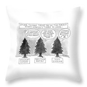 Other Things Trees Do In The Forest When Nobody's Throw Pillow