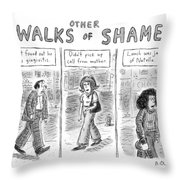 Other Walks Of Shame -- Just Found Throw Pillow