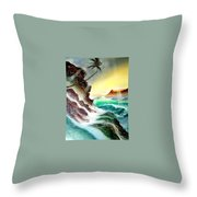 Othere Side Of Diamondhead Waikiki Hawaii Throw Pillow