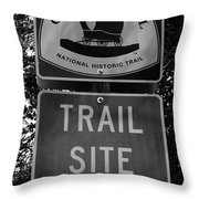 Oregon Trail Sign A Throw Pillow