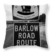 Barlow Road Cutoff Sign Throw Pillow