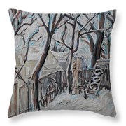 Ottawa Backyard Throw Pillow