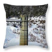 Otter Brook Dam Throw Pillow