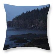 Otter Cliffs 3 Throw Pillow