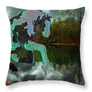 Otter Lake Phantom Throw Pillow