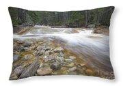 Otter Rocks - White Mountains New Hampshire Usa Throw Pillow