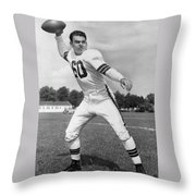 Otto Graham Nfl Legend Poster Throw Pillow