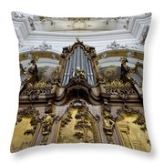 Ottobeuren Abbey Organ Throw Pillow