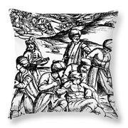 Ottoman Surgery, 1573 Throw Pillow