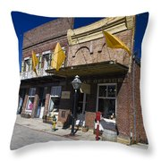 Otts Assay Office And The South Yuba Canal Building Nevada City California Throw Pillow